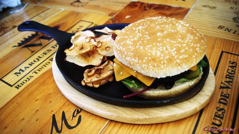 hamburguesa de morcilla