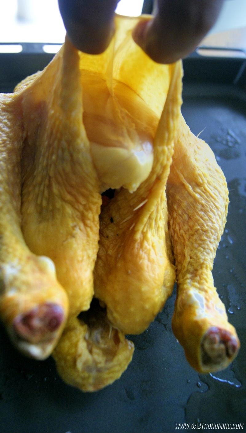 Pollo en salmuera asado