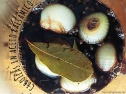 Cebollas en aceto balsámico