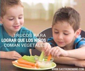 Trucos para lograr que los niños coman VEGETALES