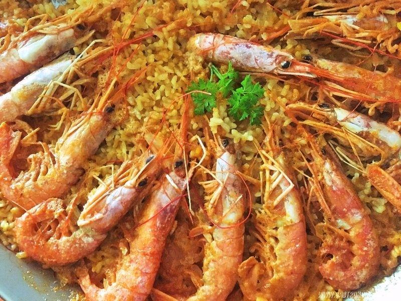 arroz cremoso con gambones