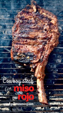 cowboy steak con miso rojo