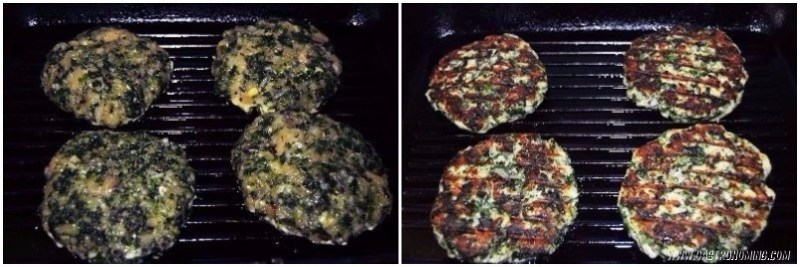 hamburguesas de pollo y espinacas