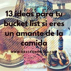 13 ideas para tu bucket list