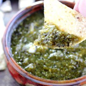 Salsa borracha verde