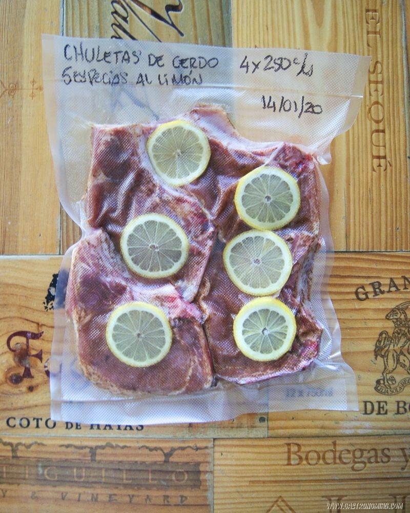 Chuletas de cerdo con 5 especias al limón sous vide 3