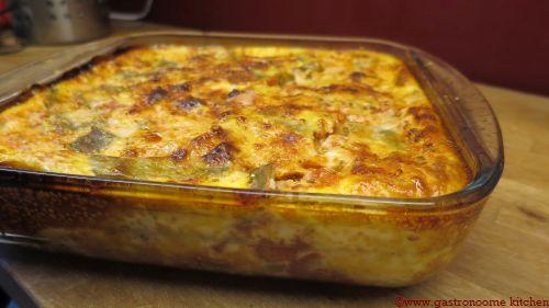 Quiche sans pâte poulet & coco plats (162 kcal / portion de 200 gr)