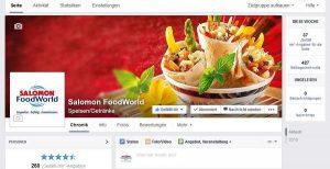 SALOMONFoodWorld Salomon Facebook neue Webseite