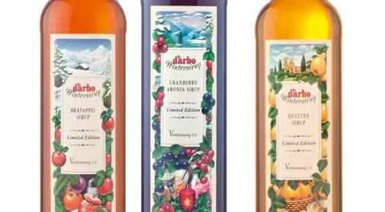 Wintersirupe Bratapfel Cranberry-Aronia Quitte Darbo