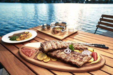 Ripperl essen an der Alten Donau Strandcafé