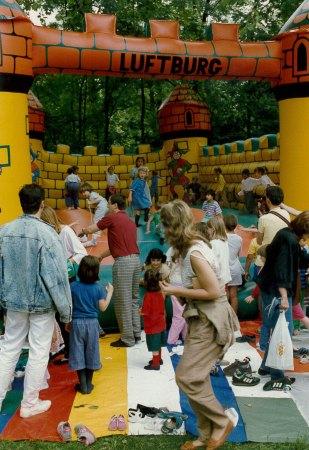 Die Hüpfburgen sorgen seit den 70er Jahren für Begeisterung.