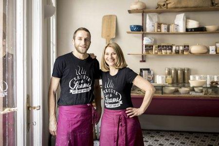 Bäckermeister Simon Wöckl und Kruste&Krume Orgnaisatorin Barbara van Melle freuen sich auf zahlreiche Besucher