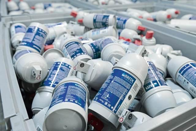 2017 wurden fast 800.000 PURITY C Filterkartuschen von BRITA recycelt. Damit ergibt sich eine Recyclingquote von über 50 Prozent.