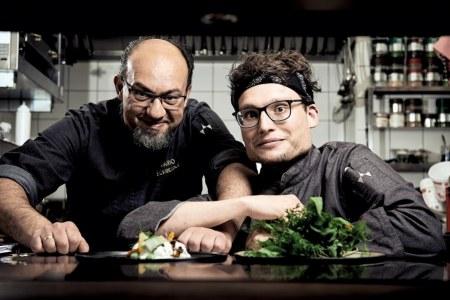 Neues Küchen-Team Haubenkoch Mario Schneider und Sous Chef David Lamatsch.