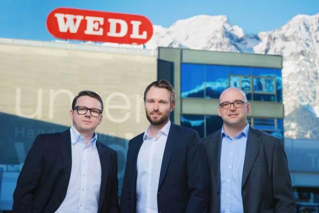 Wedl Jahresbilanz 2020  Das Geschäftsführerteam des Handelshaus Wedl musste 2020 coronabedingt deutliche Umsatzeinbrüche hinnehmen: Klaus Mantl, Lorenz Wedl, Tobias Waidhofer (v.l.n.r.)