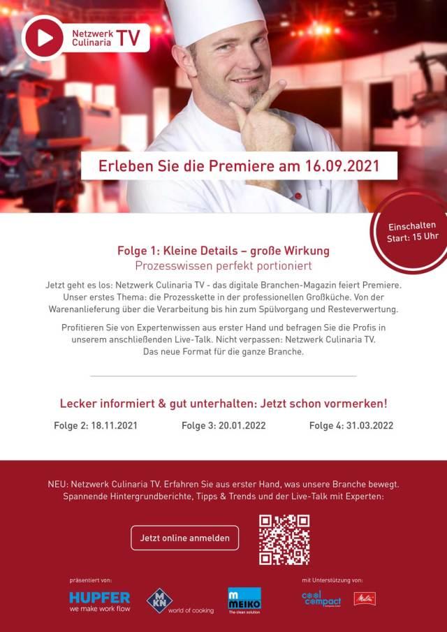 Netzwerk Culinaria TV startet!