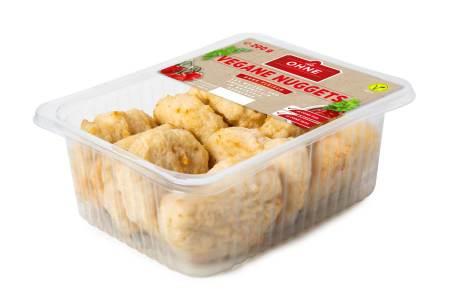 """Vegane Nuggets sind ein Teil der neuen Produktpalette von """"die OHNE""""."""