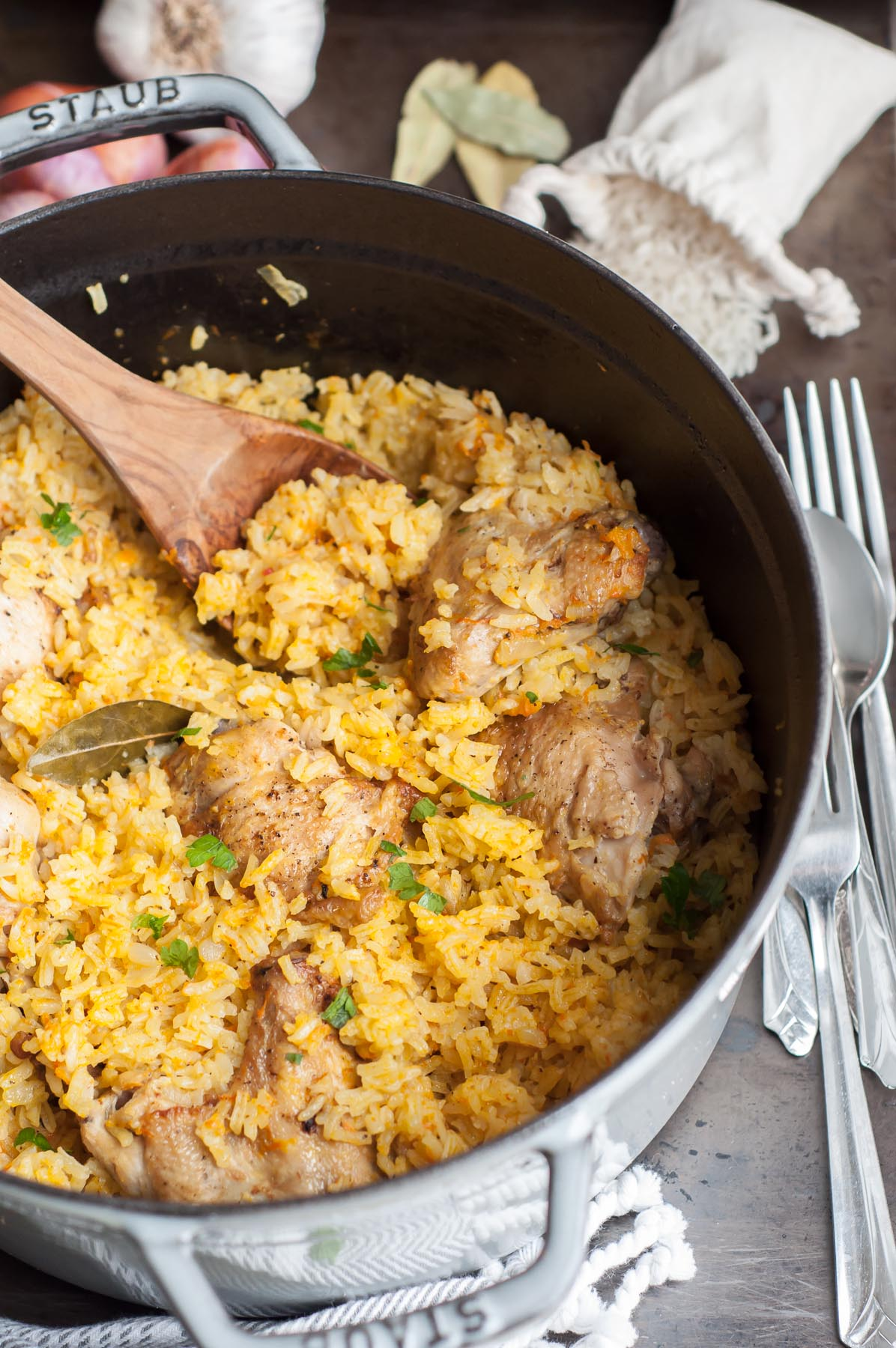 One-pot Chicken and Rice Pilaf