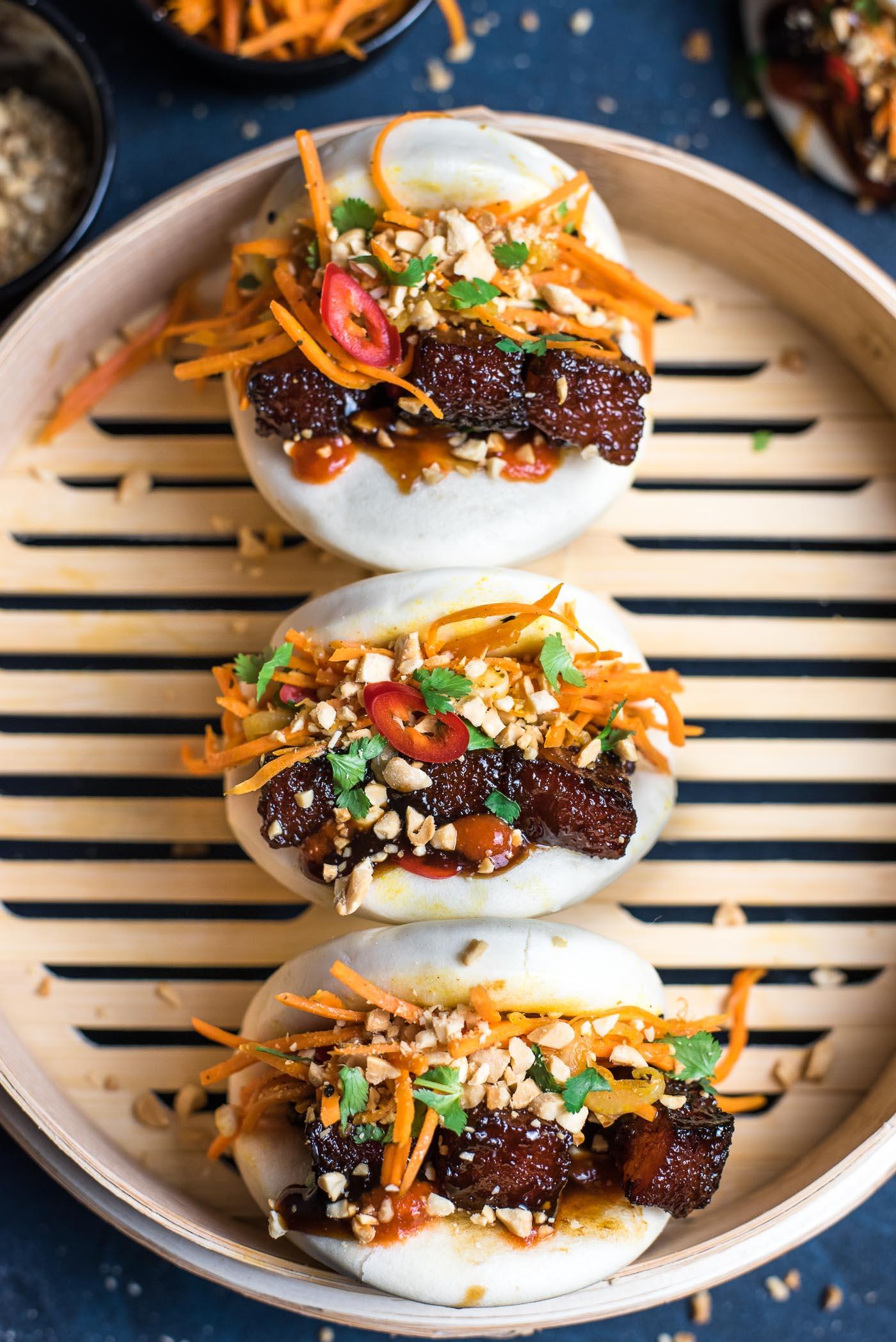Gua Bao with Glazed Pork Belly