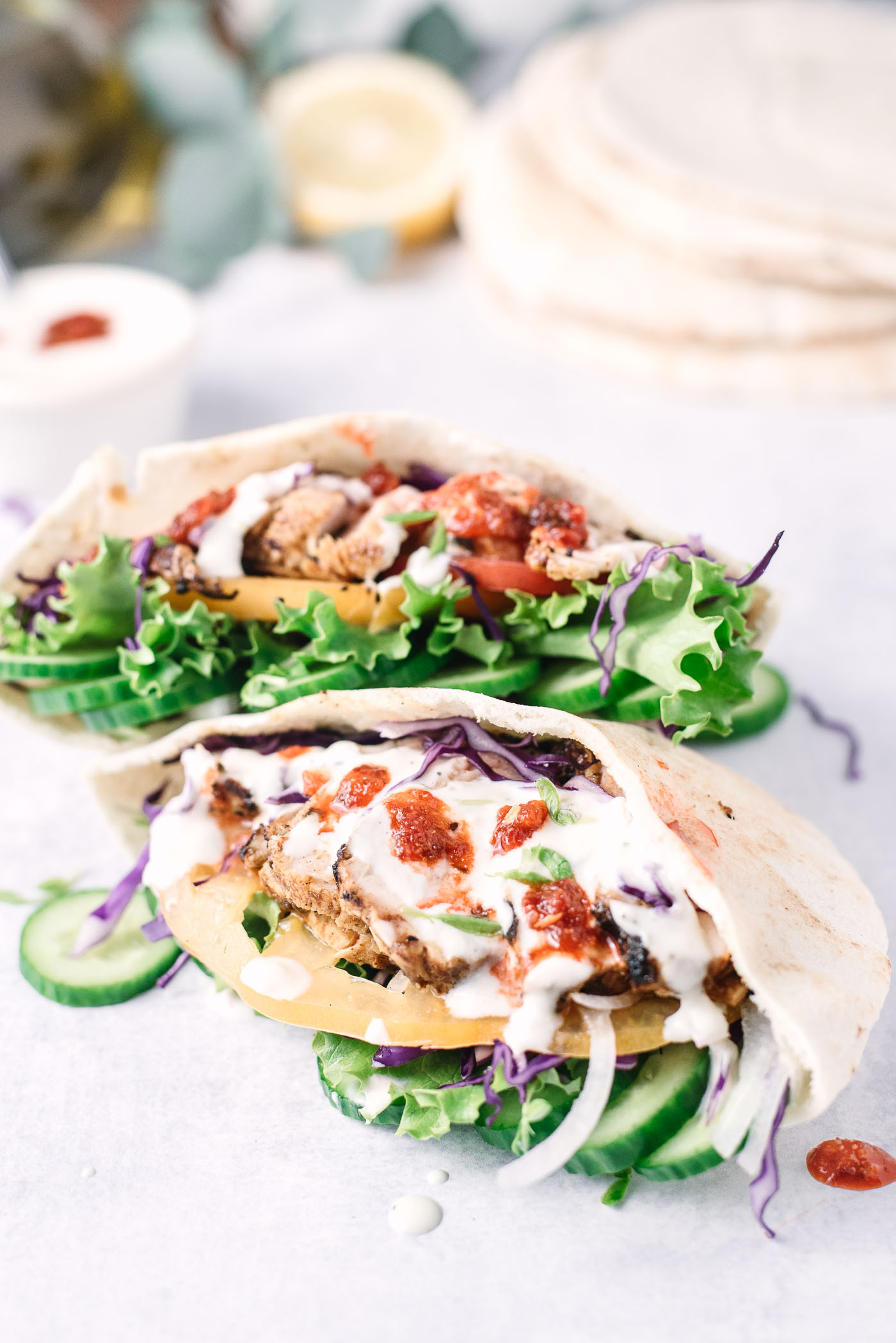 Grilled Chicken Shawarma Pita Pockets Gastrosenses