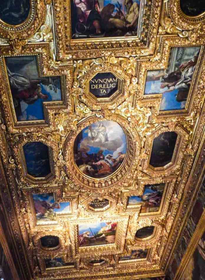 Gold Ceiling Doges Palace Venice