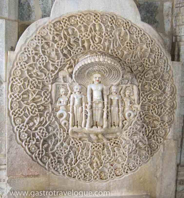 CARVING OF THE DEITY OF SHRI PARSHWANATHJEE - RANAKPUR