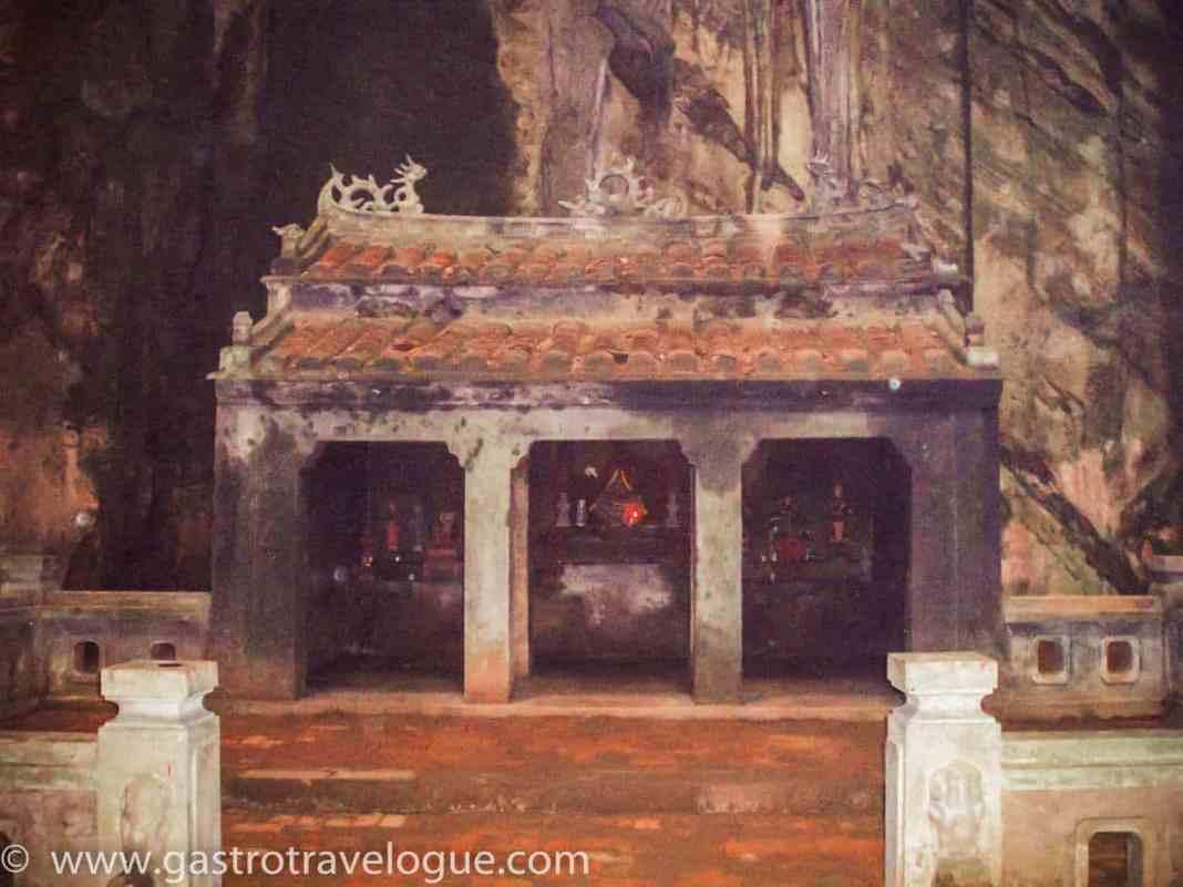 Troglodyte temple Marble Mountains Vietnam