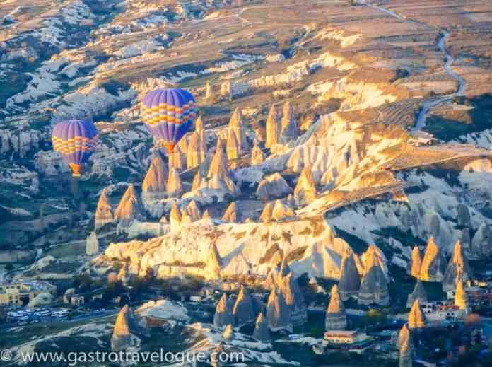 Fairy chimneys and balloons in Cappadocia