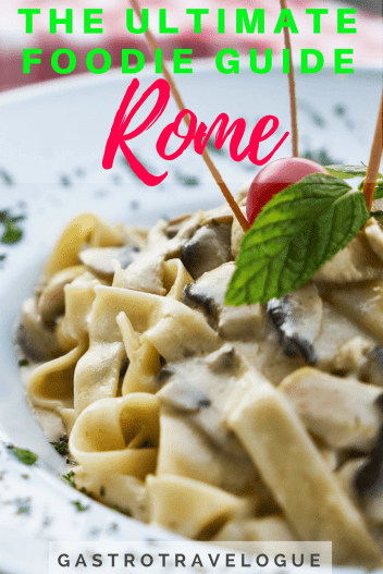 IMy ultimate foodie guide to Rome is exactly what you need if you love Italian food - #baccalà #rome #foodie #italy #spaghetticarbonara #bucatini #carciofi #artichokes #pizza #pizzabianco #gelato #markets #campodefiori #testaccio #travelblogger #cityguide #italie #roma #italie #pasta #foodieblog #rome #travel