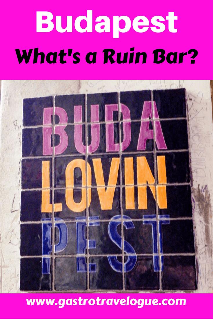 Ruin bars in Budapest district 7