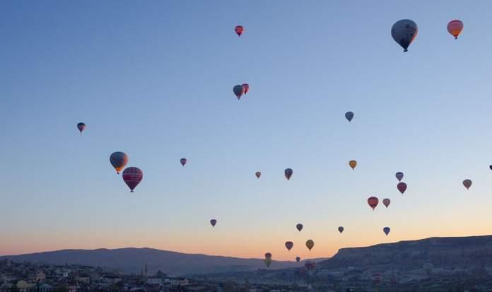Balloons at sunrise Cappadocia