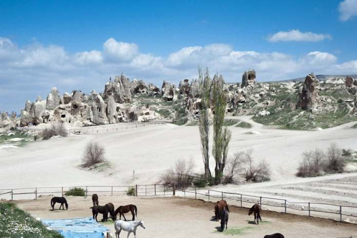 The stables in Goreme
