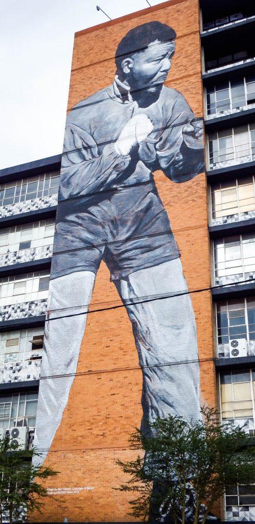 South Africa - Johannesburg street art- #Maboneng #Mandela #Johannesburg #StreetArt #graffiti #walkingtour #tour #southafrica #urbanmurals #murals #falko #mars #travel #art