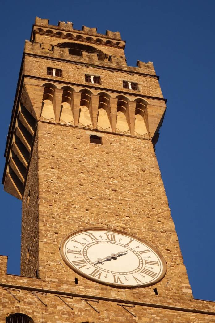 Clock Tower at Palazzo Vecchio Florence