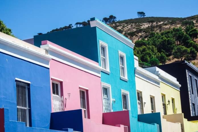 Colourful Cape Malay Quarter houses