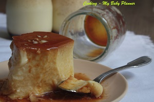 Le crème caramel - Cooking My Baby Planner