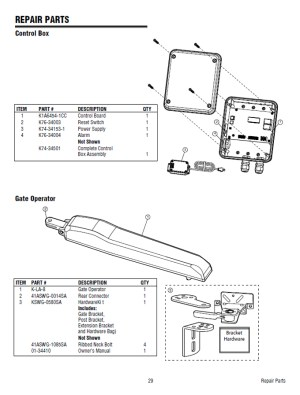 Replacement Parts Diagram  LiftMaster LA400 Parts Diagram