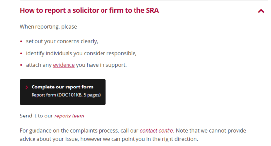 solicitors regulador authority