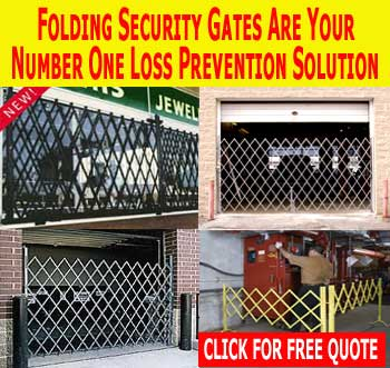 Commercial Folding Security Door Gates