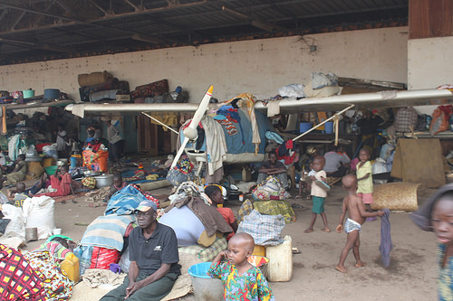 Pictured in this Jan. 15, 2014 photograph are some of the 100,000 displaced persons taking refuge at Bangui airport in the Central African Republic. (Image source: European Commission DG ECHO/Pierre-Yves Scotto)