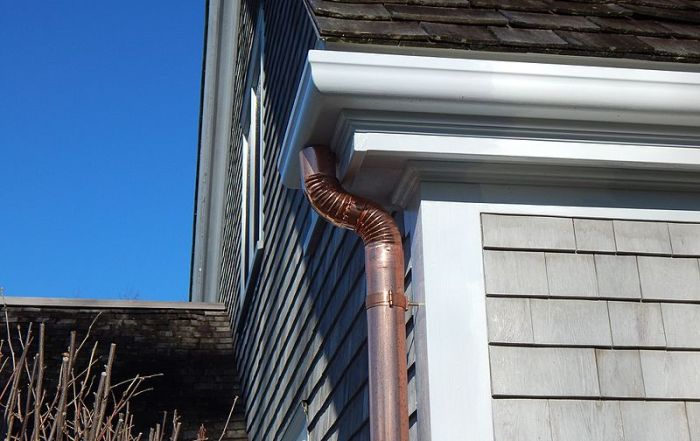 Copper Rain Gutter Spout