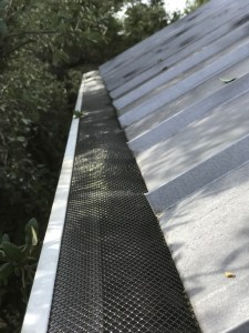 Gutter Screen Installed