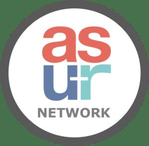 Circle Icon - asur network white gray