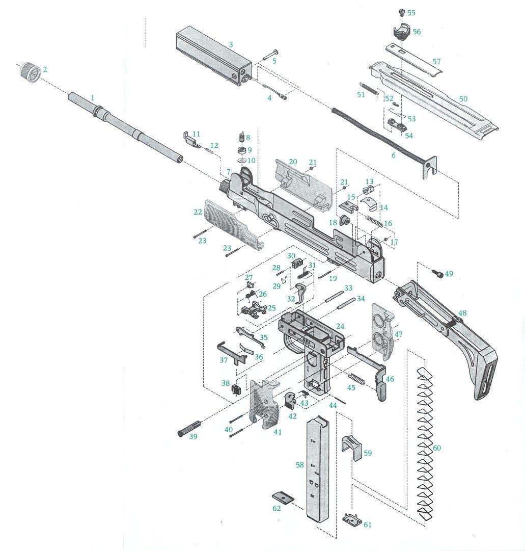 Imi Uzi Sears Barrels Triggers Grips Pistol Parts Kits And