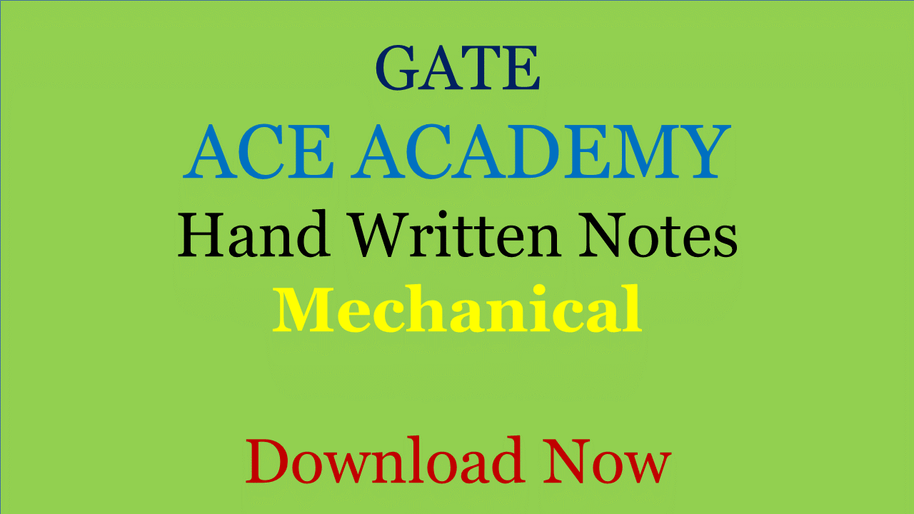 Gate Exam Syllabus For Mechanical Engineering Pdf