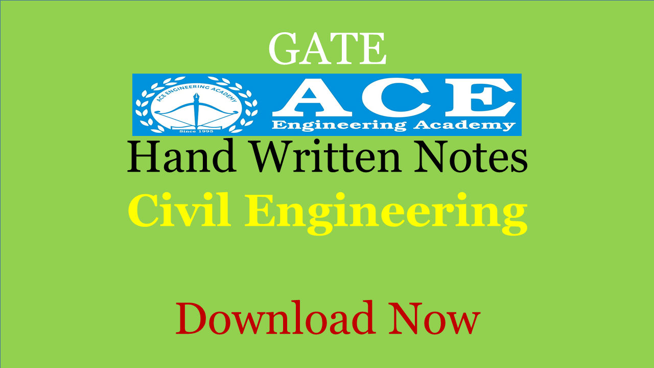 ACE Academy Class Notes Civil Engineering
