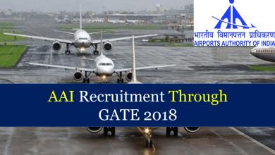 Photo of AAI Recruitment Through GATE 2018
