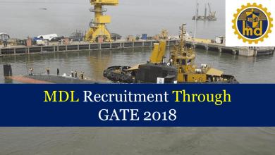 Photo of MDL Recruitment Through GATE 2020