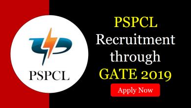 Photo of PSPCL Recruitment through GATE 2019