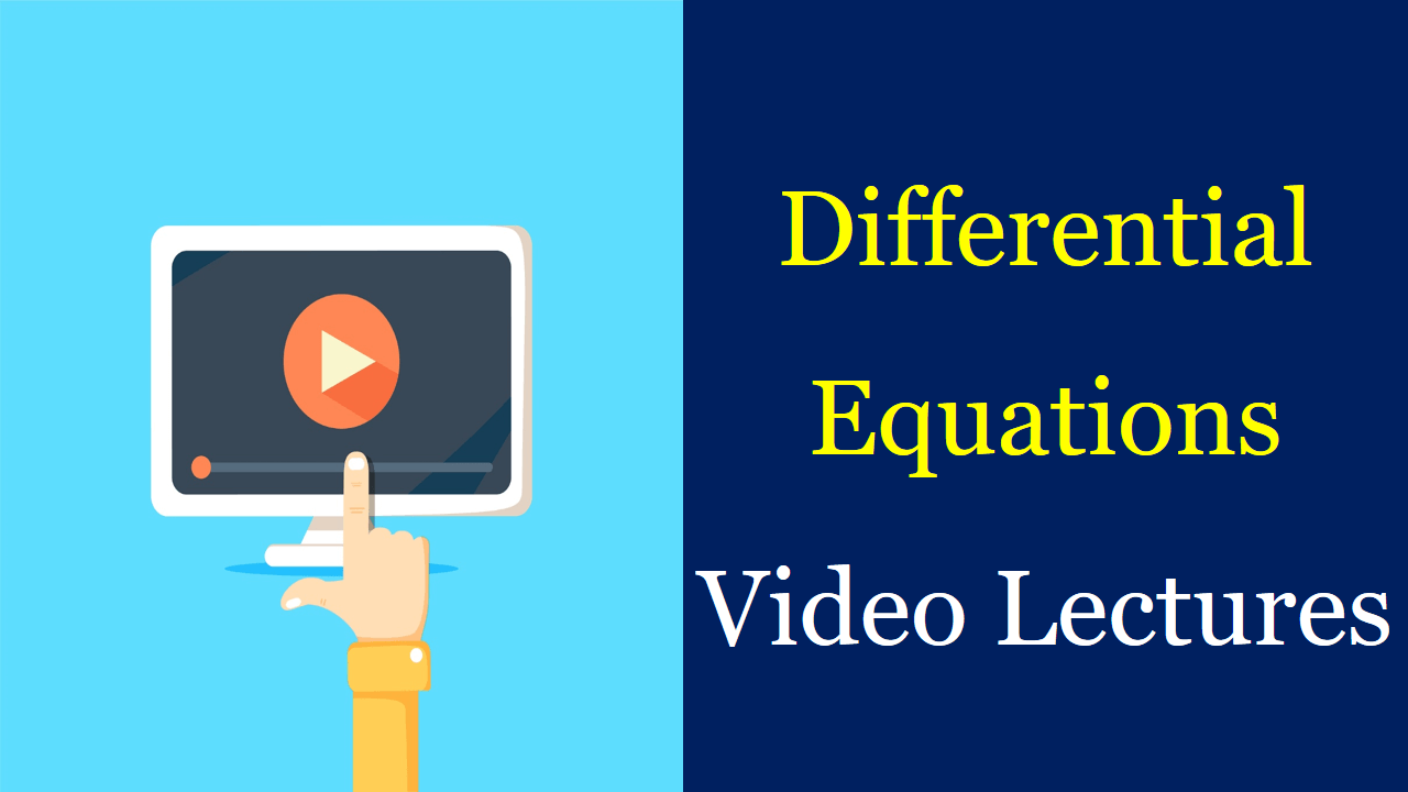 Differential Equations video lectures